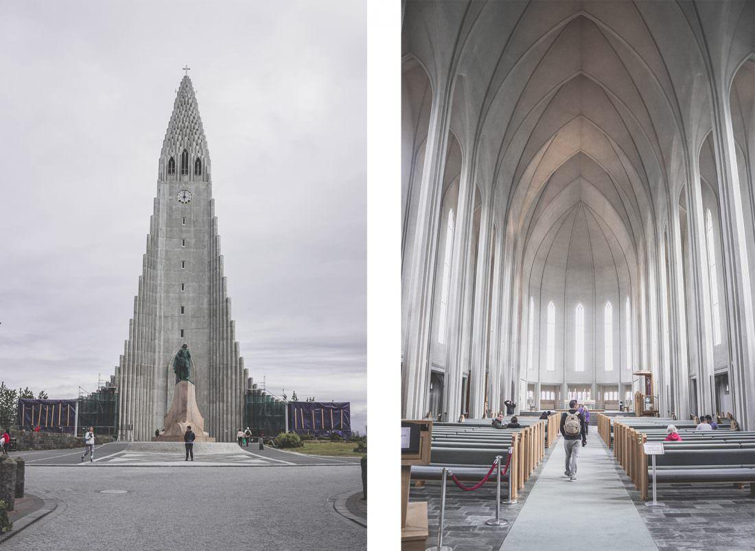 Islande | Reykjavik et son église à l'architecture atypique