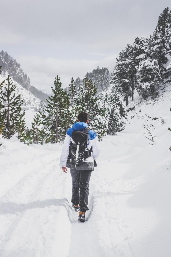 Espagne • Catalogne • Pyrénées • Randonnées au Parc Nacional d'Aigüestortes i Estany de Sant Maurici • Randonnée sous la neige
