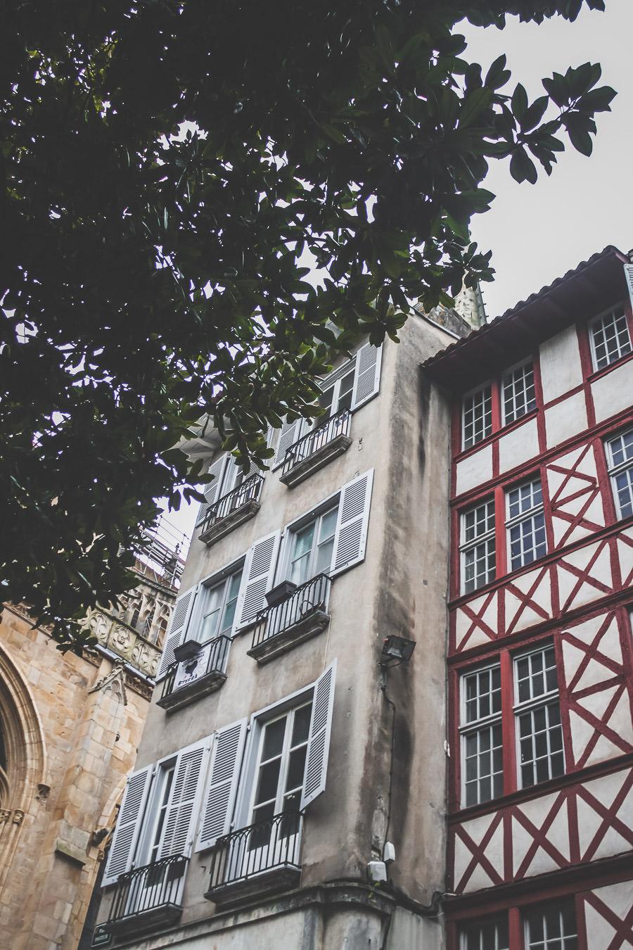bayonne et son centre ville aux couleurs typiques de l'Euskadi