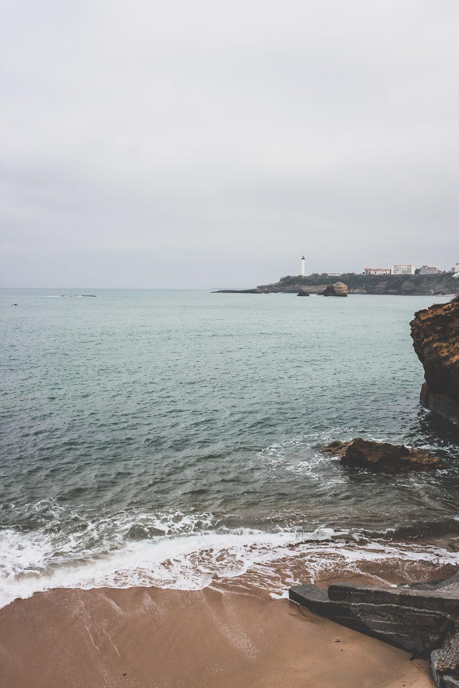 Biarritz, balade le long de la plage