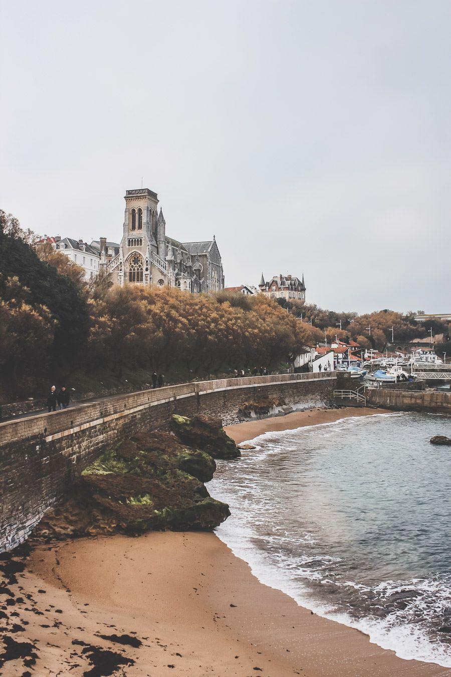 la plage de Biarritz