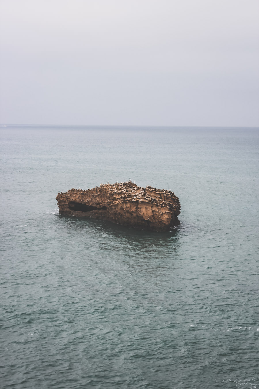 le rocher de la plage de BIarritz