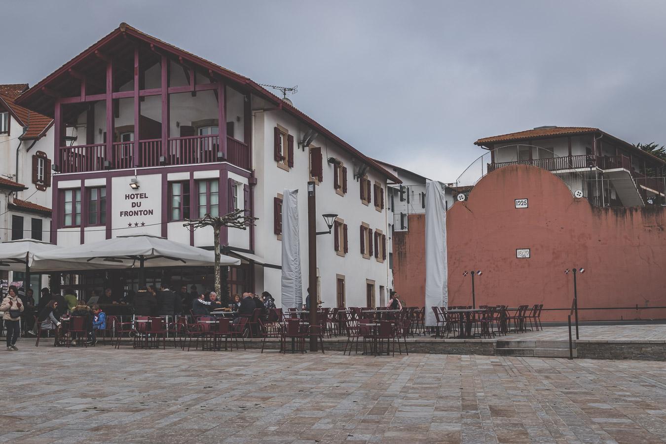 le centre ville authentique de Bidart