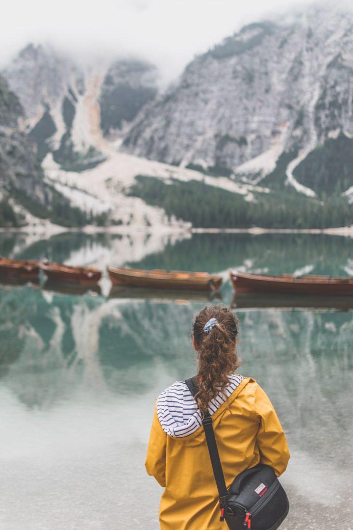 Le Lago di Braies (Pragser Wildsee), dans les Dolomites, en Italie